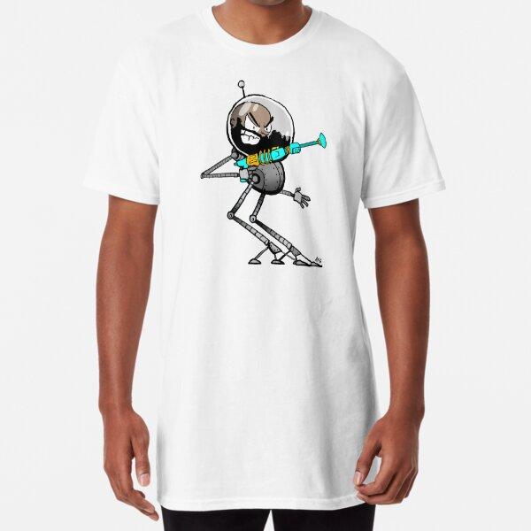 Space Aaron Robot Long T-Shirt