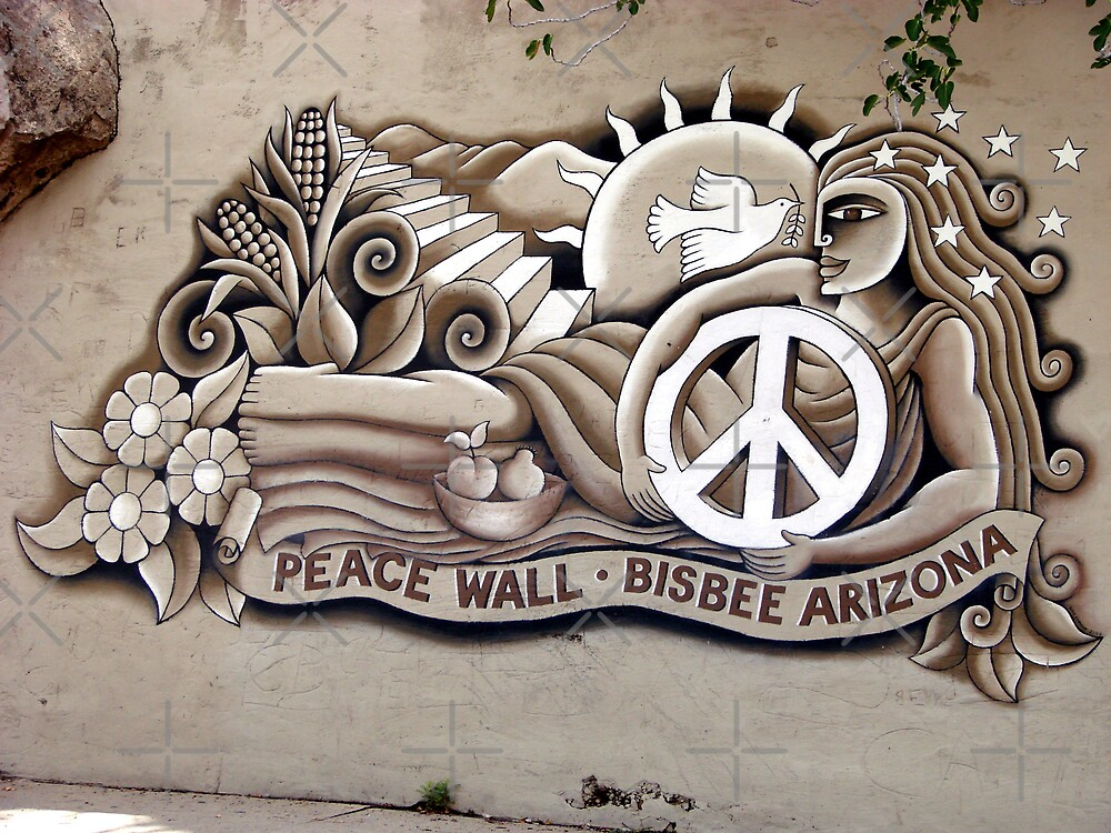 Bisbee Peace Wall by Kimberly Miller
