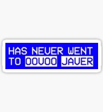 um i never went to oovoo javer  Sticker