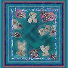 Jokers - Surreal Cards and Dominoes in Lake by Julia Woodman