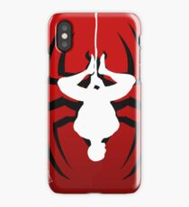 Reverse silhouette Spidey iPhone Case