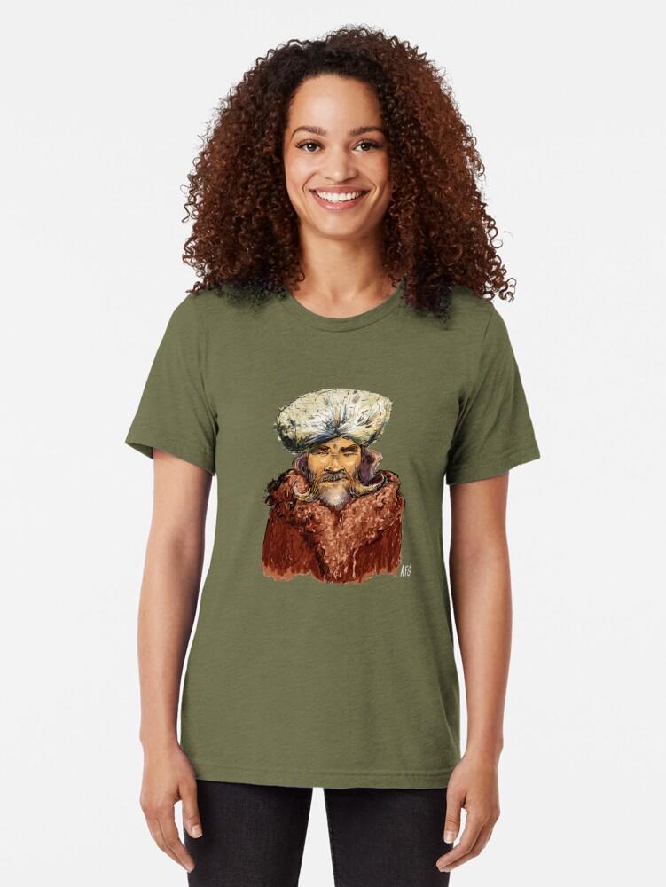 Alternate view of Mountain Man Tri-blend T-Shirt