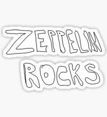 Zeppelin Rocks Sticker