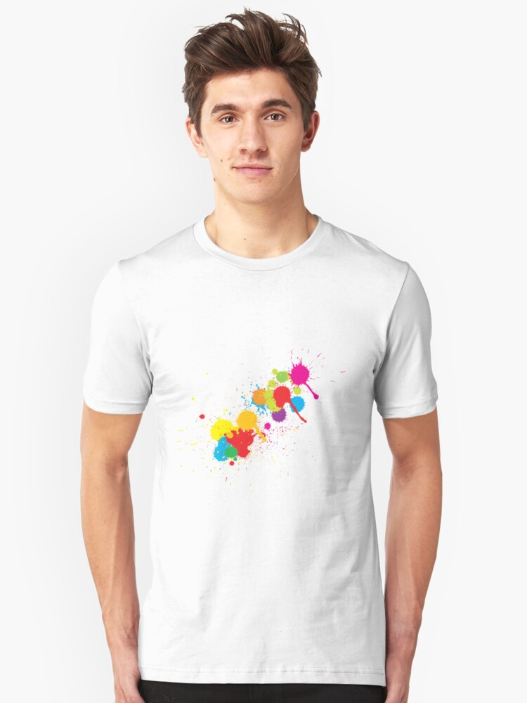 Wet Paint Unisex T-Shirt Front