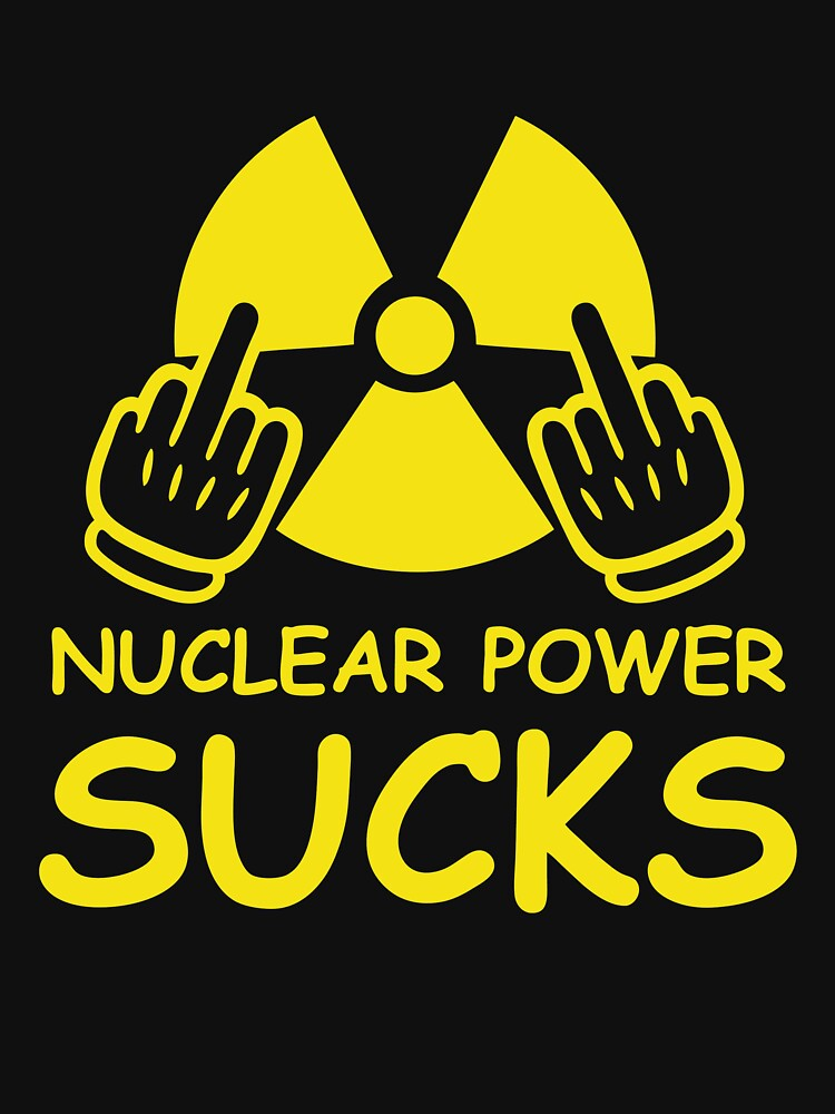 RETRO BS545 Nuclear Power Sucks Best Product by HadWeGo