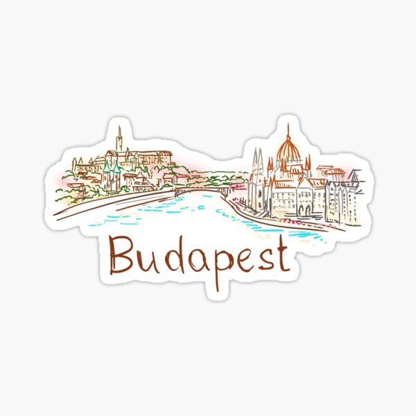 Budapest Panorama at night Sticker