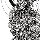 Springing, Ink Drawing by Danielle Scott