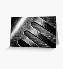 Monochrome Kitchen Fork Abstract Greeting Card