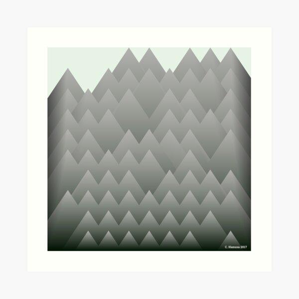 Aligned Mountains - Generative Mathematical Art Art Print