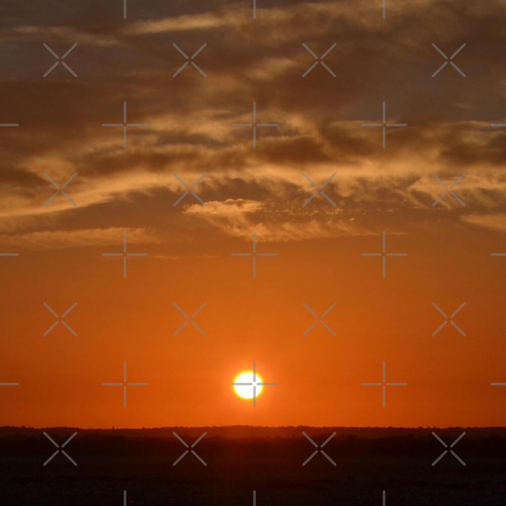 Sun Setting Over Stone Harbor Point  by ANNAKUCZYNSKI
