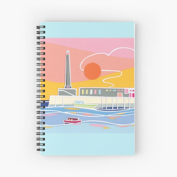Margate Harbour Sunset Spiral Notebook