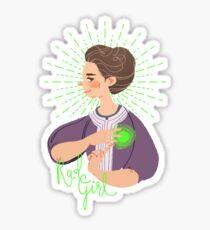 Marie Curie - science, technology, engineering, mathematics, chemistry, radium, scientist, scientist woman gift, chemistry teacher gift, teacher gift, laboratory, cute, female scientist, women in stem Sticker