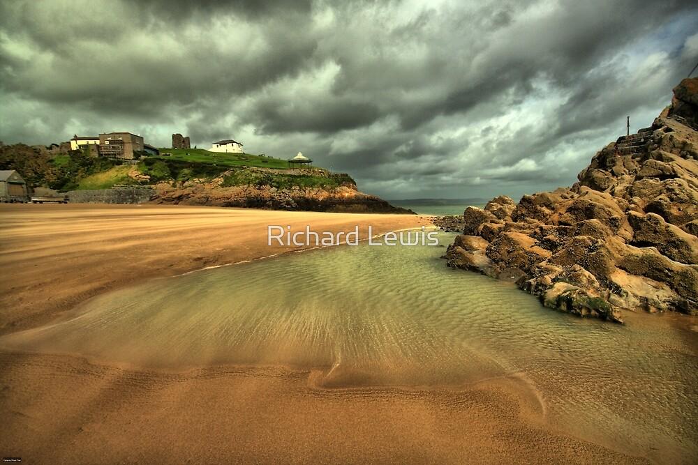 Windy beach by Richard Lewis