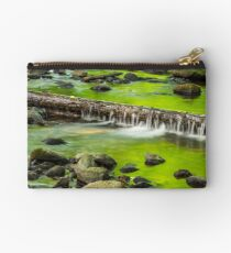 cascade on the little stream with stones in forest Studio Pouch