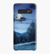 meadow near the forest in mountains at night  Case/Skin for Samsung Galaxy