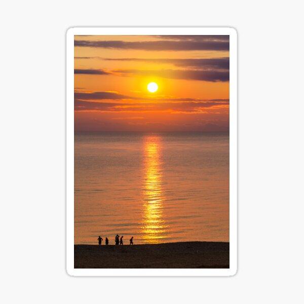 sunrise on the sea beach Sticker