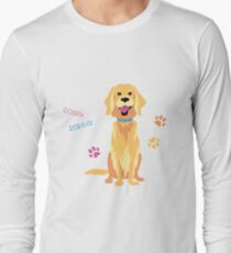 Sketch Funny dog Golden Retriever Long Sleeve T-Shirt