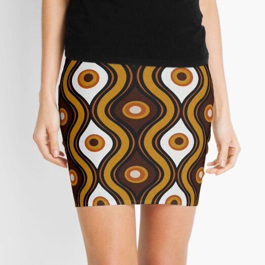 Retro 1970's Style Seventies Vintage Pattern Mini Skirt