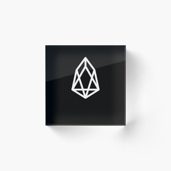 EOS Coin Cryptocurrency Acrylic Block