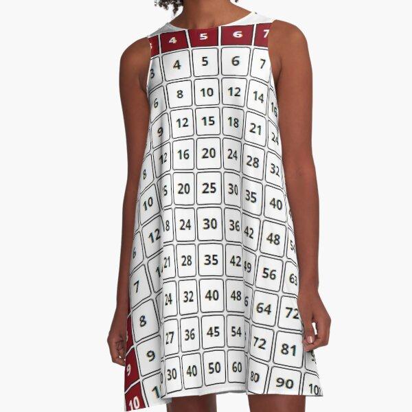 Multiplication Table - Таблица умножения A-Line Dress