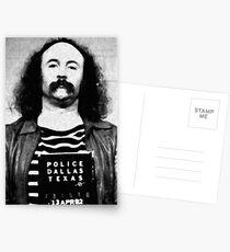 David Crosby Mug Shot Vertical Painting Black And White Postcards