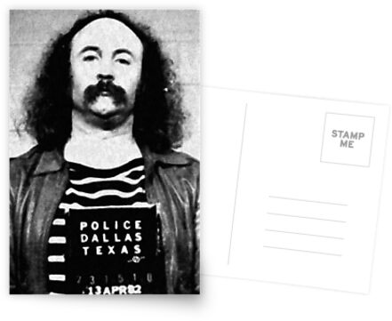 David Crosby Mug Shot Vertical Painting Black And White by Tony Rubino