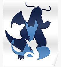 Dratini, Dragonair & Dragonite Poster