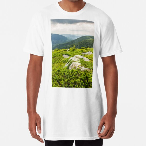 few trees and stones on hill side Long T-Shirt