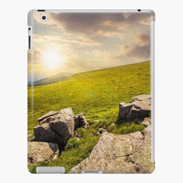 white boulders on the hillside at sunset iPad Snap Case