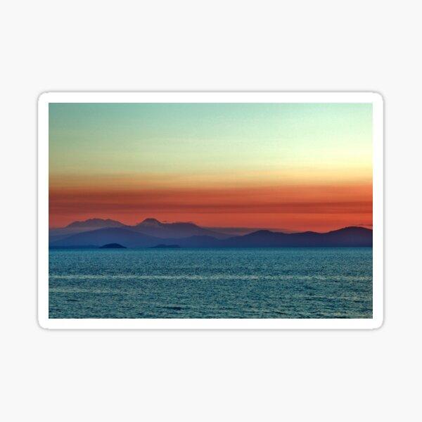 Sunset over Lake Taupo, New Zealand Sticker