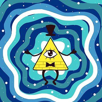 Bill Cipher azul de dixieulquiorra