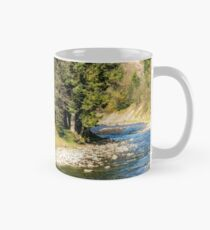 river in autumn mountain forest  Mug