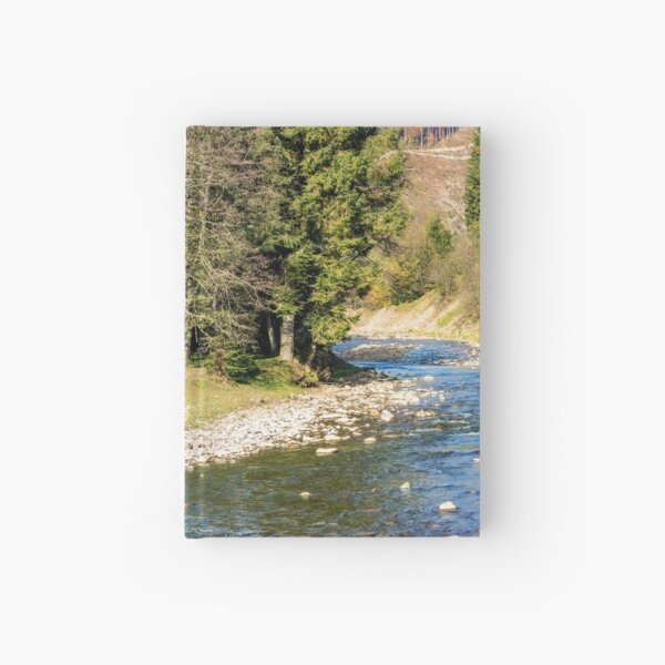 river in autumn mountain forest  Hardcover Journal