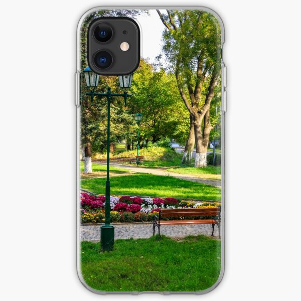 City lights in the park iPhone Soft Case