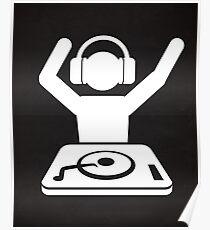 DJ Hände in der Luft Poster