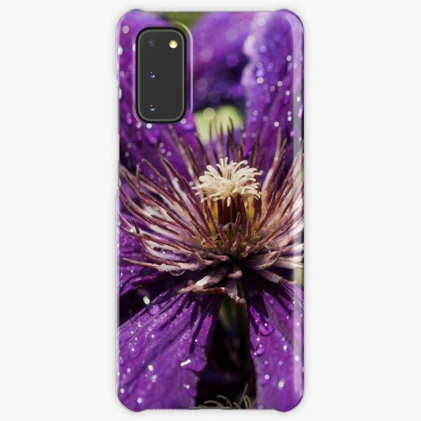 Dew Drops on Purple Flower Samsung Galaxy Snap Case