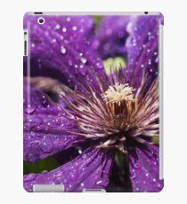 Dew Drops on Purple Flower iPad Case/Skin