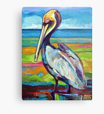 Colorful St Pete Pelican Metal Print
