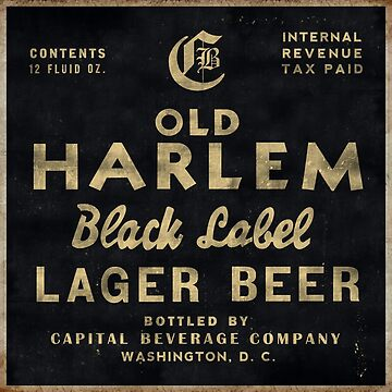 Old Harlem Lager Beer vintage advertisment by htrdesigns