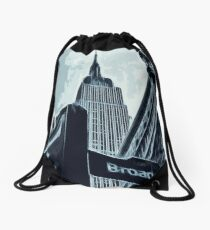 Streets of New York - Broadway view Drawstring Bag