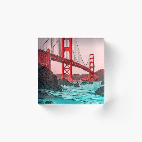 Golden Gate Bridge - Panorama Acrylic Block