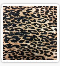 girly pattern safari jungle animal tan leopard print Sticker