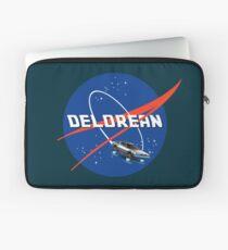 Back to the Future - DeLorean + Nasa Logo Laptop Sleeve