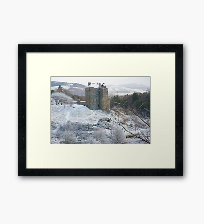 Neidpath Castle Near Peebles Scotland Framed Print