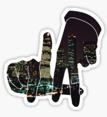 Pegatina LA Hands of the City