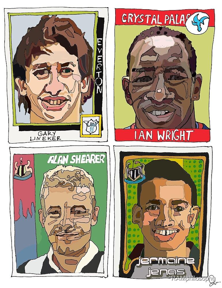 MOTD pundits - Retro Football Stickers by RAMphilosophy