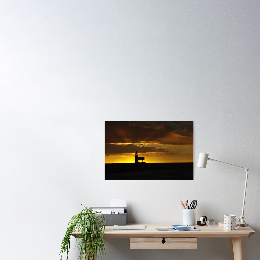 North mole sunset Poster
