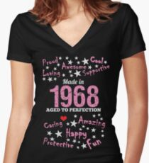 Made In 1968 - Aged To Perfection Women's Fitted V-Neck T-Shirt