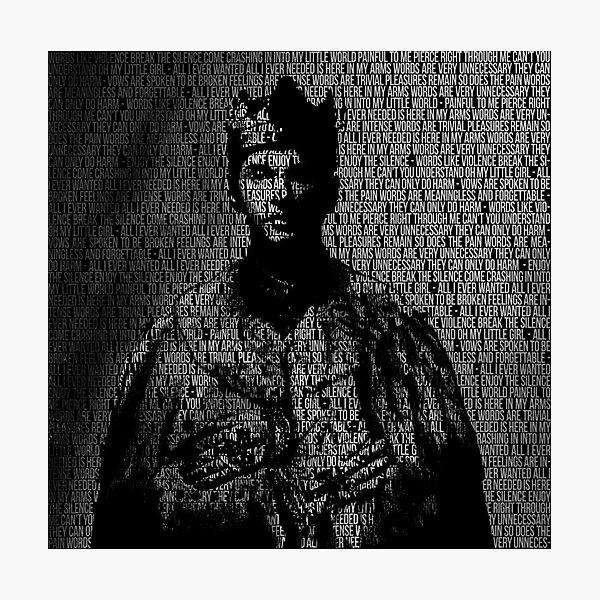 Enjoy The Silence King with Lyrics Photographic Print