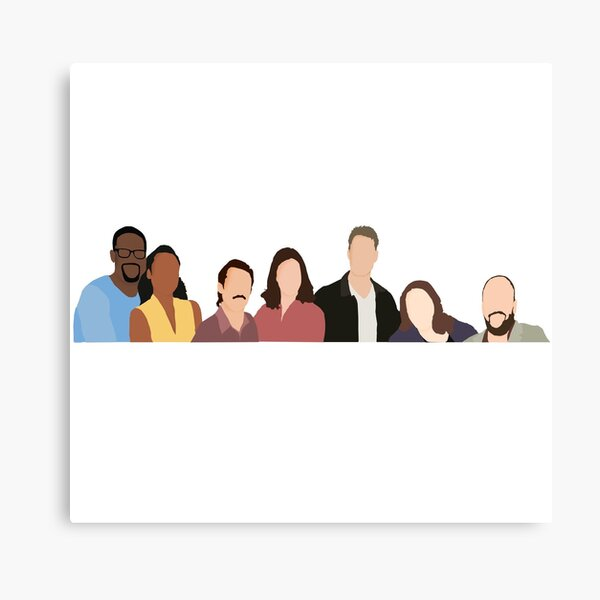 This is Us Cast Canvas Print